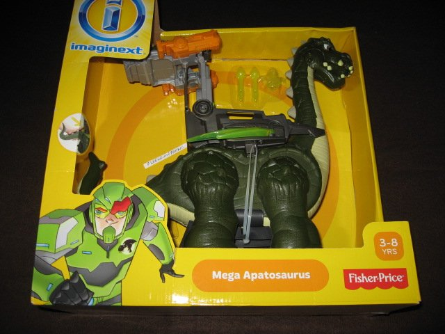 Fisher-Price  Imaginext Large Mega Apatosaurus Walking Dinosaur Dino Great Gift