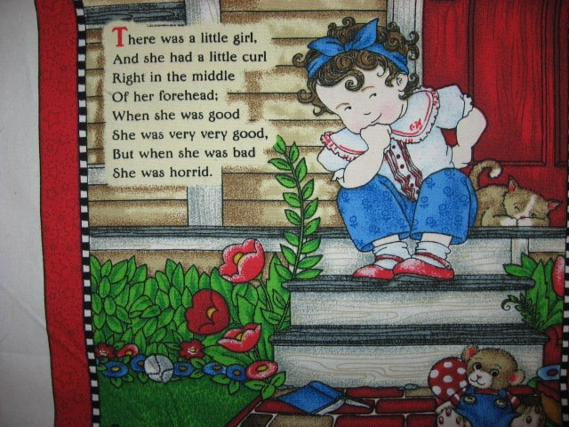 Image 9 of Mary  Engelbreit Mother Goose  soft book Fabric panel red rare Vol  2