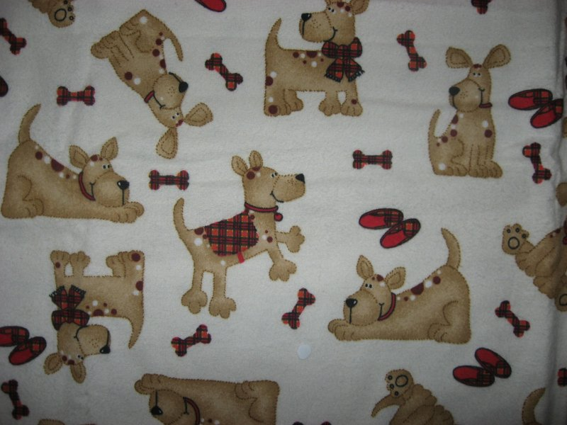 Puppy Dog flannel blanket Bones Coat Slippers cotton