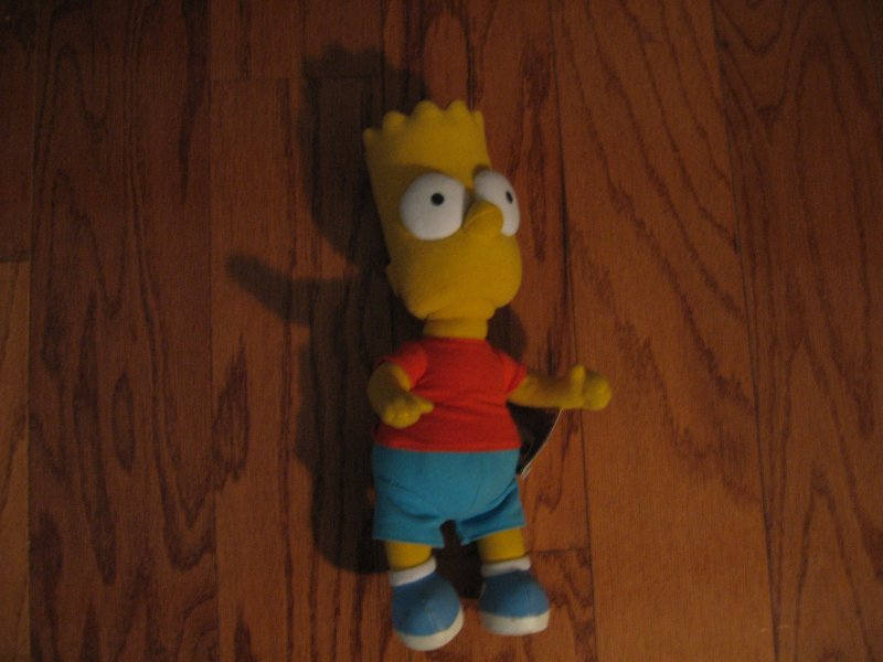 Bart Simpson doll soft body firm head bendable arms brand new with tags 12.5