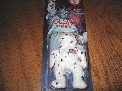 Ty Glory the bear small patriotic beanie doll new in package
