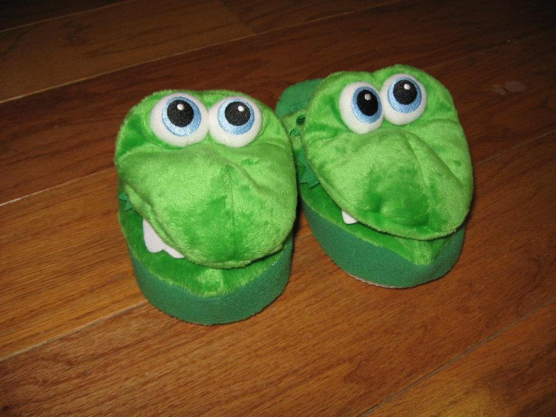 Stompeez Dragon slippers Child size small about 7 1/2 from toe to heel measure