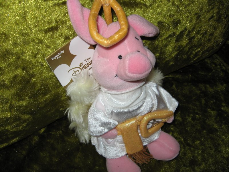 Disney Piglet Angel mini bean bag doll with fluffy wings 8