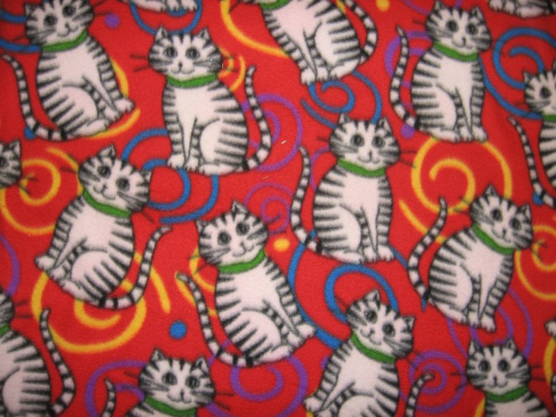 Cat fleece blanket Swirls bedsize large