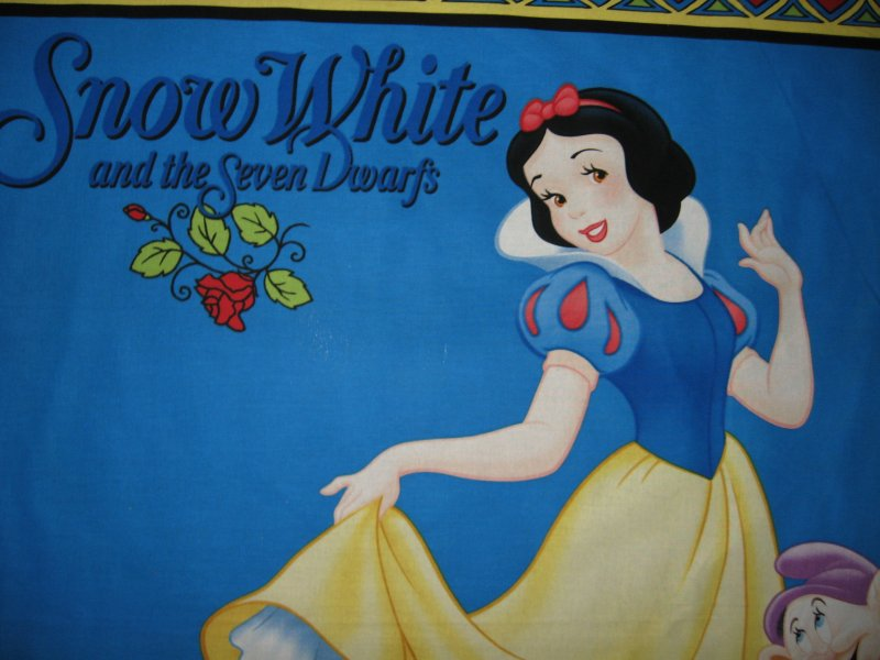 Image 1 of Disney Snow White and 7 Dwarfs Cotton Fabric wall or crib Panel to Sew