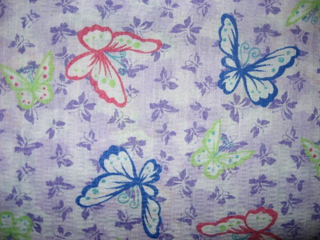 Tutti Fruitti Lilac Butterflies insects cotton fabric by the yard