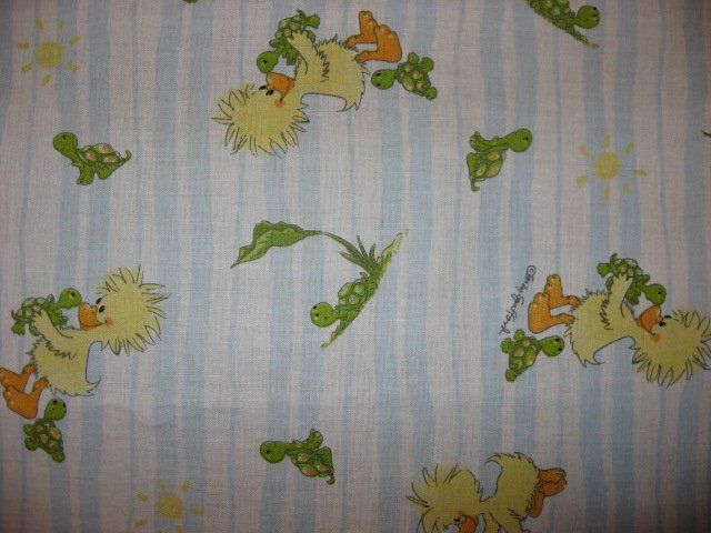 Licensed Suzy's zoo Witzy and Turtles cotton fabric By the 1/2 Yard Rare!