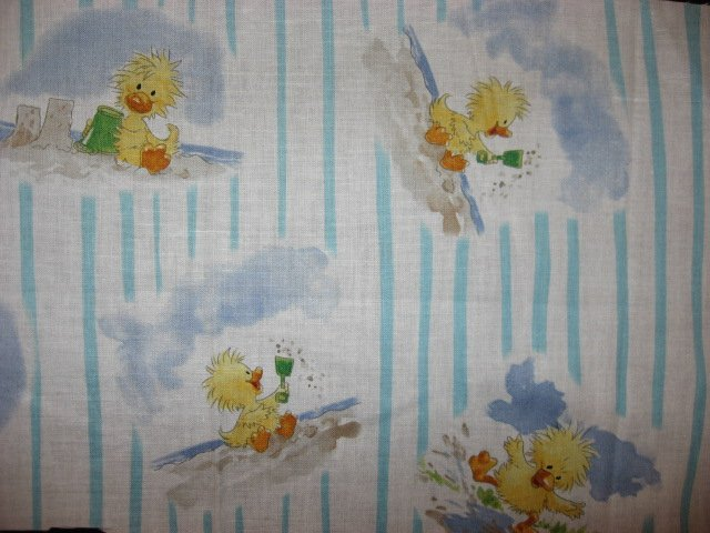 Suzy's zoo Witzy Duck Puddles and beach sand Licensed 100% cotton fabric