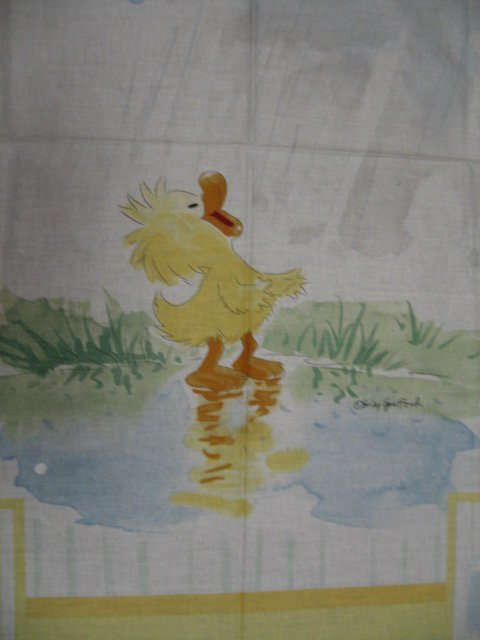 Suzy's Zoo Witzy Duck Raindrop Crib Quilt throw Licensed fabric panel to sew