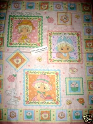 Precious Moments Girl with a Hat Crib Quilt Fabric Panel to sew