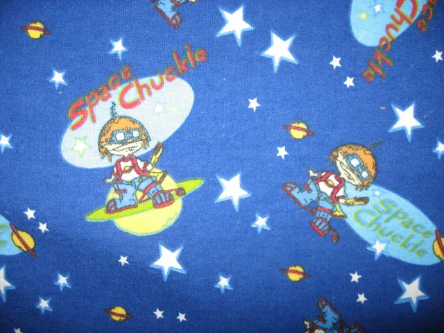 Chuckie space stars planets 100 cotton flannel by the yard for Space flannel fabric