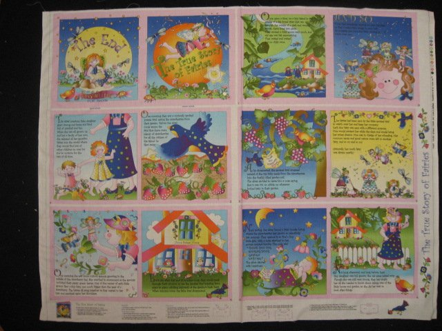 The true story of fairies baby Soft book fabric Panel To Sew  /