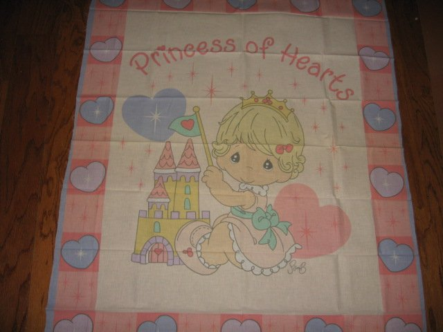Precious Moments Girl princess Fabric Panel rare to sew