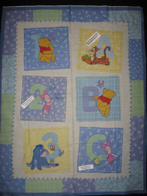 Crib Quilt Fabric Panel To Sew Winnie The Pooh Tigger