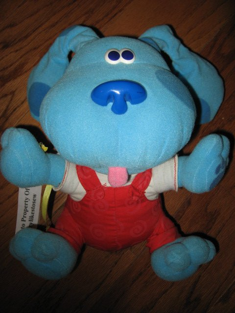 Image 0 of Blues Clues Dog Stuffed Plush Musical Soft Toy Doll Ears move 2000