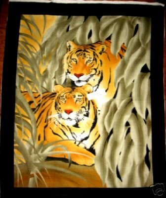 Tigers jungle fleece blanket