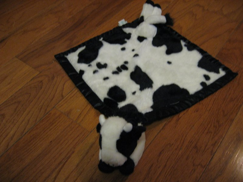 Gracie the Cow Farm My Banky large Lovey Security Blanket w/satin binding