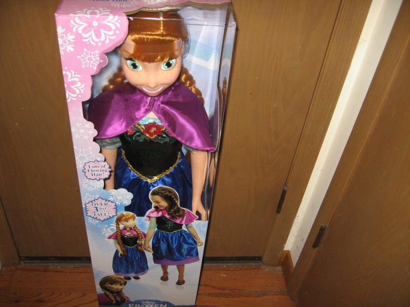 Frozen Anna Disney Child Size Fairytale Doll approx 3 Ft Tall Free Shipping
