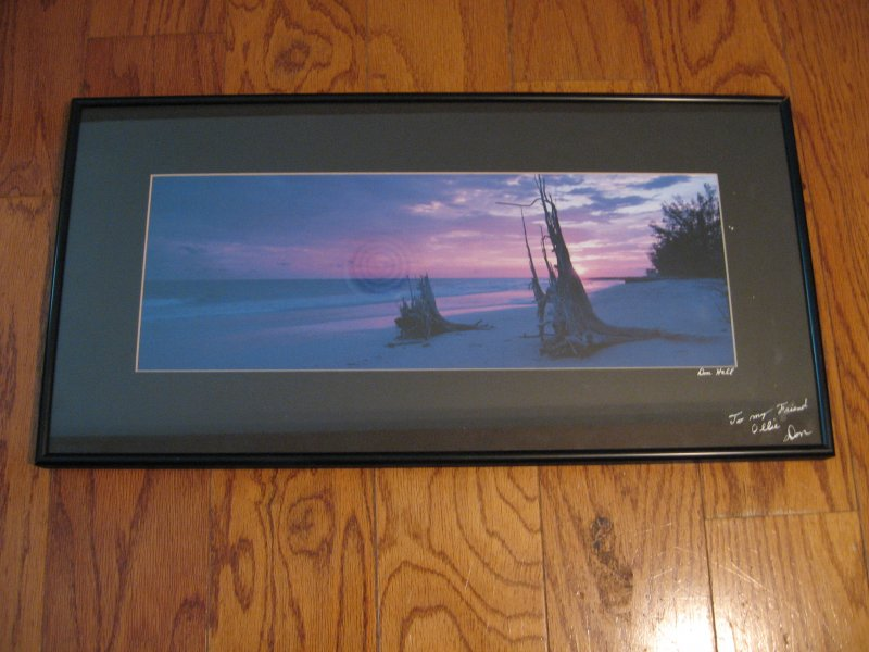 Beach scene Sunset  Don Hall Original Photograph  signed framed matted Unique