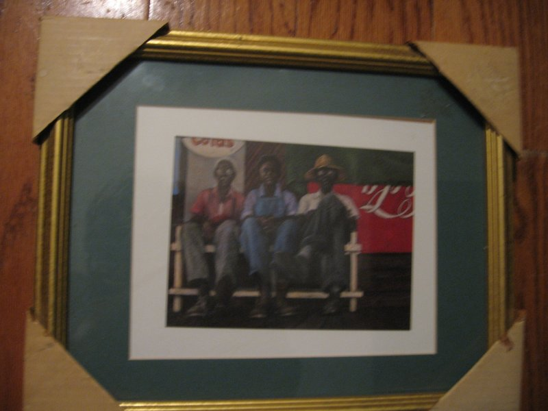 African American Men of the Bench reproduction by Brenda Joysmith  13 X 16
