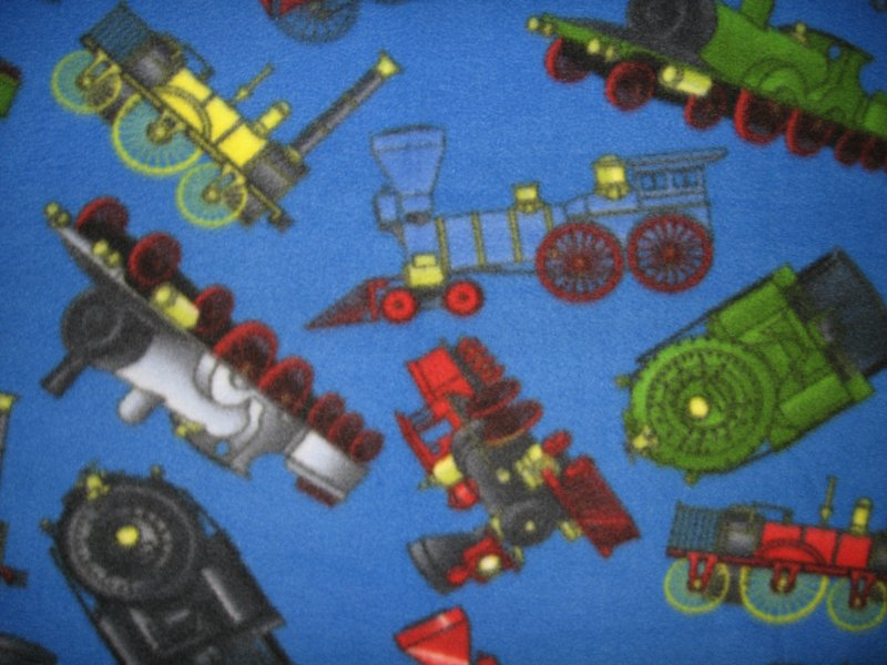 Image 0 of Locomotive vintage style   fleece blanket