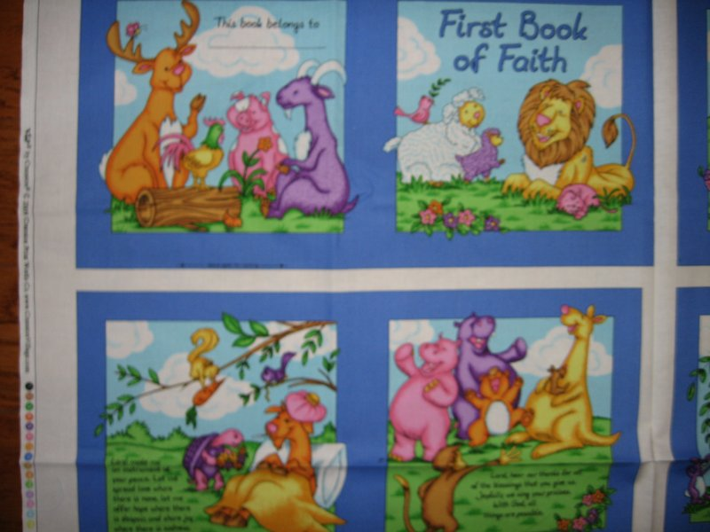 Image 1 of First book of faith  baby Soft book fabric or wall Panel to Sew /