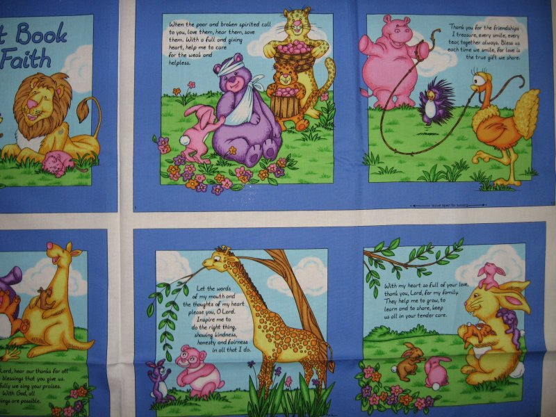 Image 2 of First book of faith  baby Soft book fabric or wall Panel to Sew /