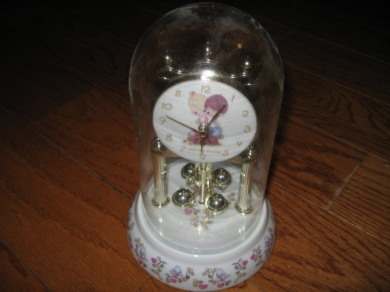 Image 1 of Anniversary Porcelain Clock Precious Moments Love one another