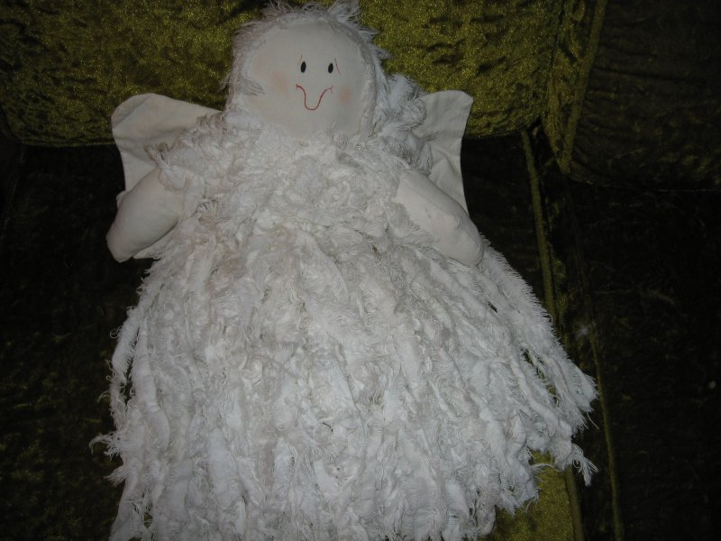 Angel Large 20 Quot Long Doll Muslin Fabric Head Arms Wing