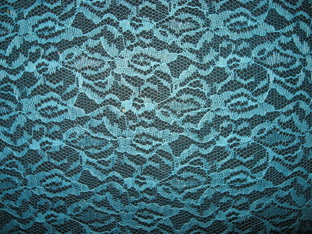 Carla Lace by Beachwood aqua or turquoise 100% Polyester fabric by the yard