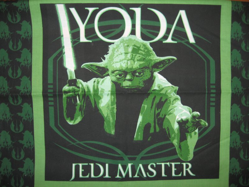 Image 0 of Yoda Star Wars Jedi Master Licensed Fabric pillow panel to sew