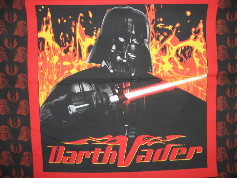 Darth Vader Star Wars Light Saber Licensed Fabric pillow panel to sew
