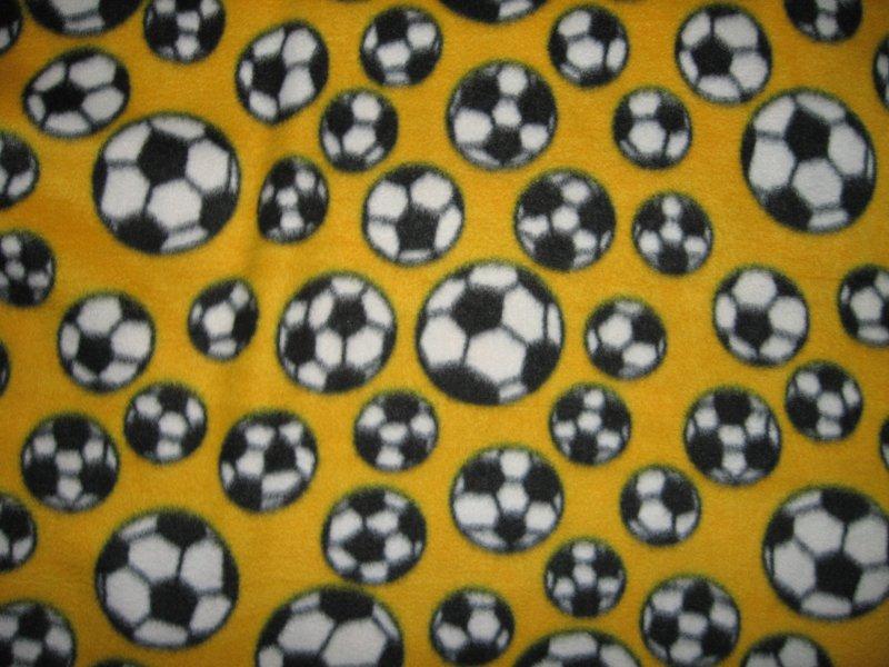 Image 0 of Soccer balls  yellow  Fleece blanket