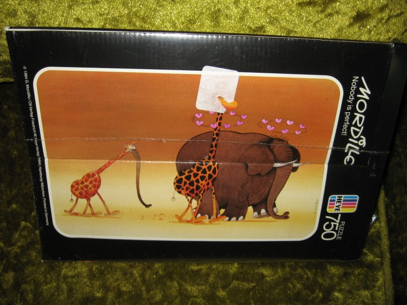 Heye elephant & giraffe 80's Nobody is Perfect 750 pcs jigsaw Puzzle NEW IN Box