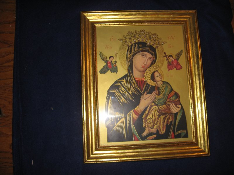 Mother Of Perpetual Help Religous Child Jesus Framed