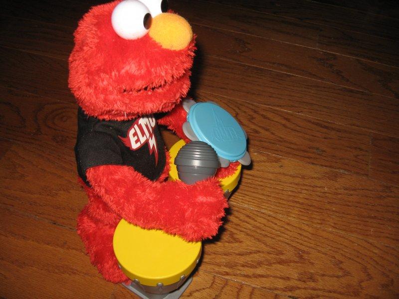 Image 2 of Sesame street Elmo Hasbro doll talks sings drums microphone castanet