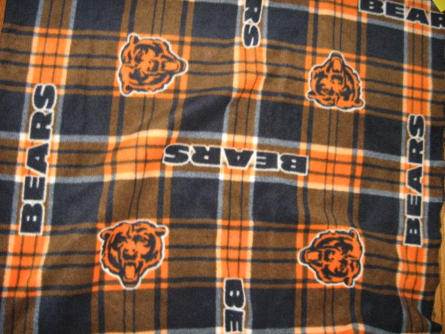 Chicago Bears football adult fleece blanket 64 X 58 New