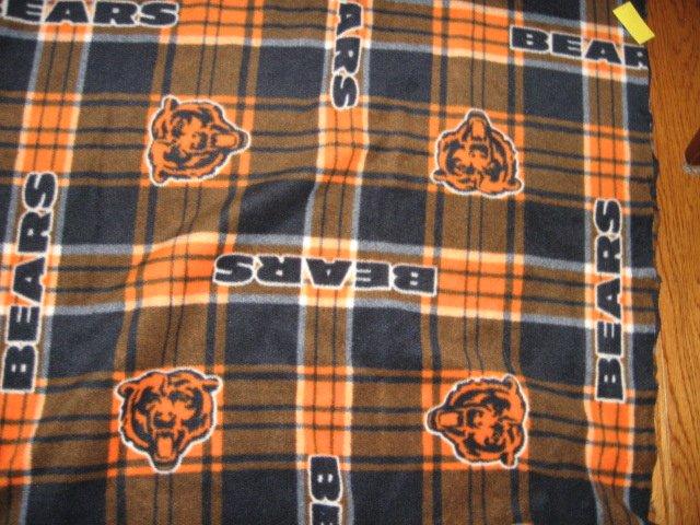 Image 1 of Chicago Bears football adult fleece blanket 64