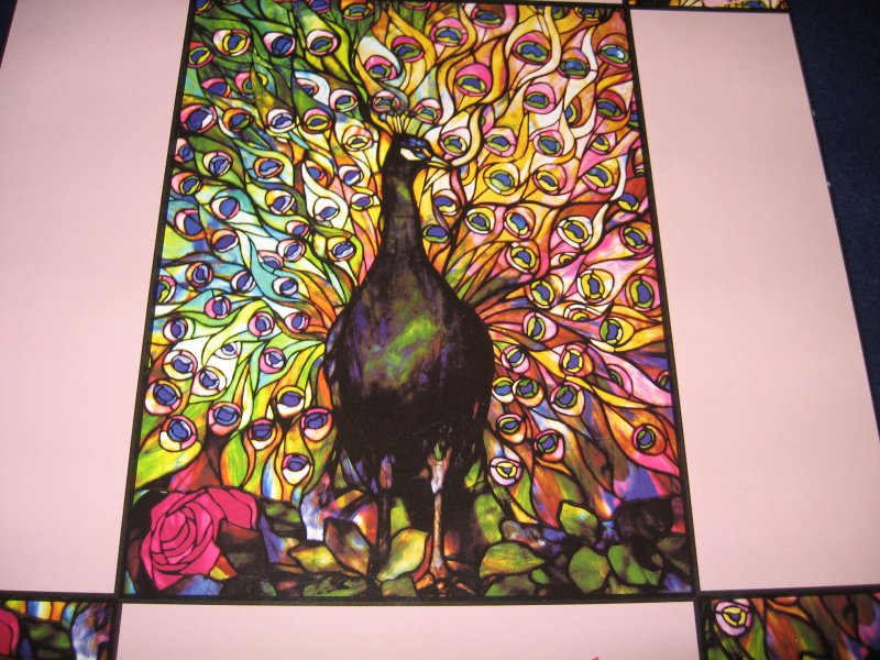 Tiffany stained glass Peacock 750 piece jigsaw sealed Puzzle