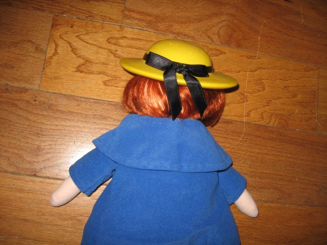 Image 2 of Madeline talking Doll Yellow dress hat blue coat Great Condition