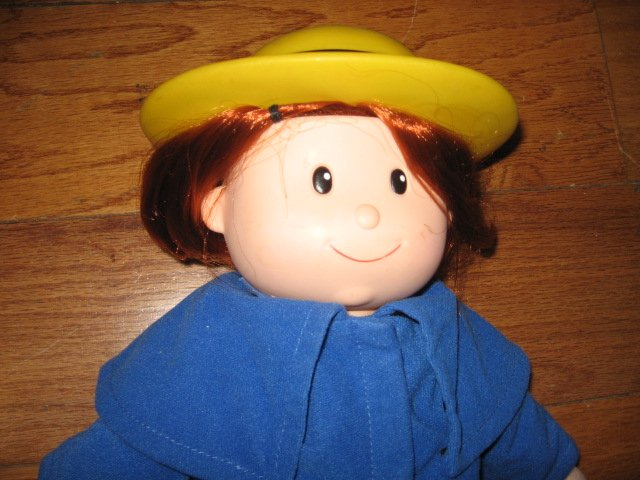 Image 1 of Madeline talking Doll Yellow dress hat blue coat Great Condition
