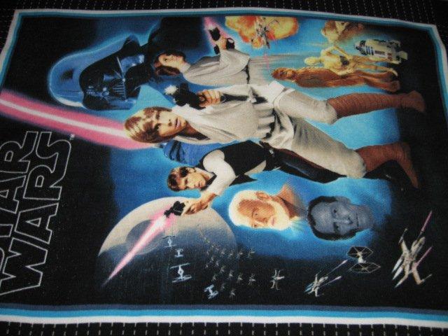 Image 1 of Star Wars characters Fleece panel blanket 48