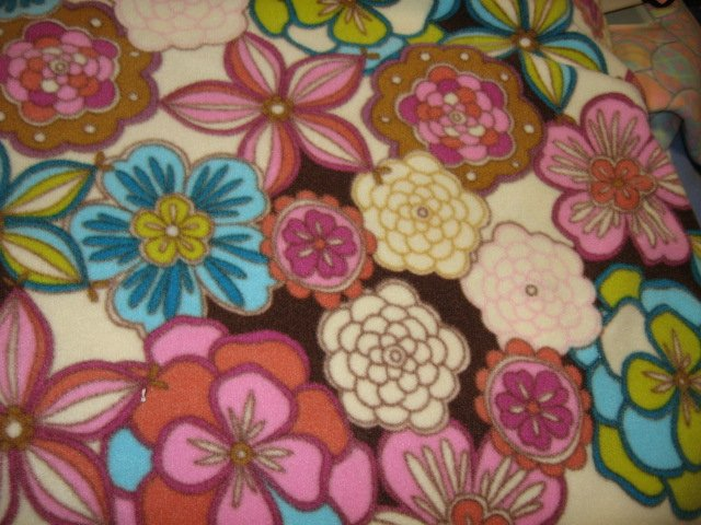 Image 1 of Floral garden flower colors fleece bed blanket 64