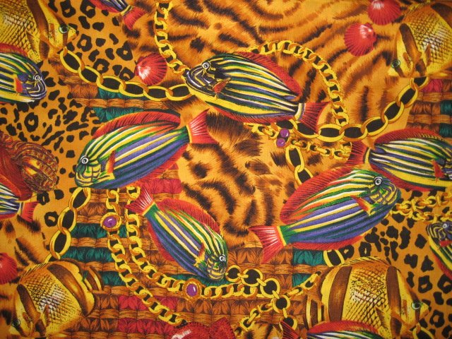 Image 0 of Tropical Fish Alexander Henry Collection cotton quilt fabric by the yard
