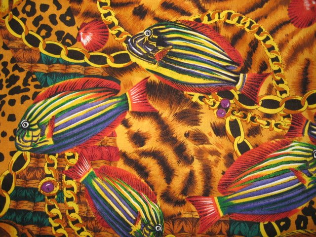 Image 1 of Tropical Fish Alexander Henry Collection cotton quilt fabric by the yard