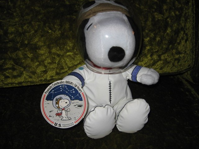 Image 0 of Peanuts Snoopy NASA 50 year astronaut doll new with tag