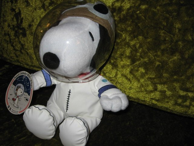 Image 1 of Peanuts Snoopy NASA 50 year astronaut doll new with tag