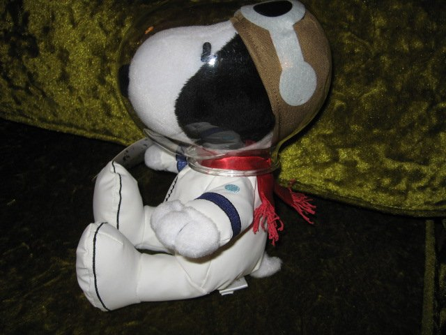 Image 2 of Peanuts Snoopy NASA 50 year astronaut doll new with tag