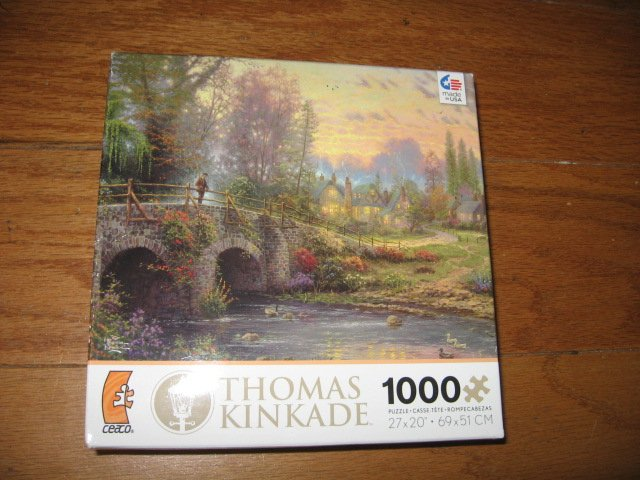 Thomas Kinkade Cobblestone Evening1000 piece Puzzle  year 2012 new