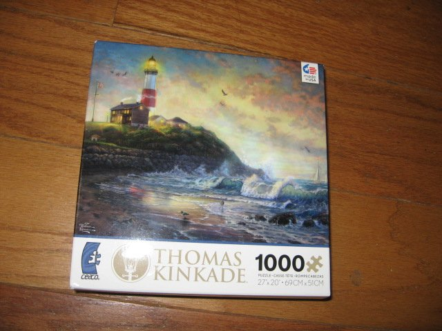 Thomas Kinkade Light of Hope 1000 piece Puzzle  year 2013 new